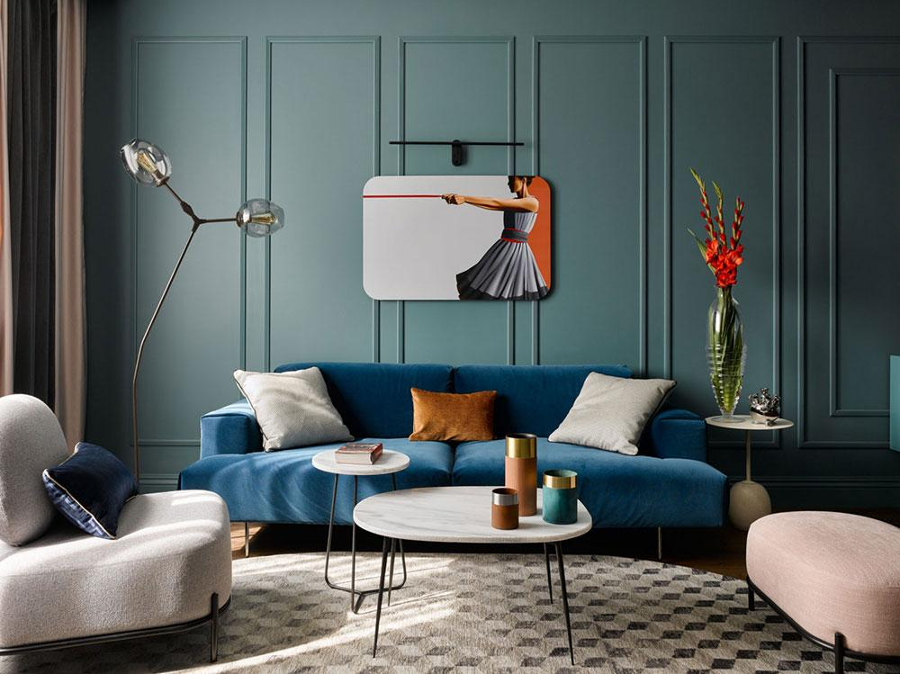 Blue Living Room Decor Inspiration| Blue is a really versatile colour to decorate your home with. But, which colours and tones work well? What kind of accessories work with blue? This post gives you ideas for pulling together an elegant blue colour palette and pieces for your home. Read more: kittyandb.com #bluelivingroom #colourfulhomedecor #bluecolorpalette #interiordecoratinginspiration #blueaesthetic