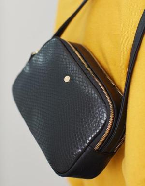 Faux Leather Camera Bag