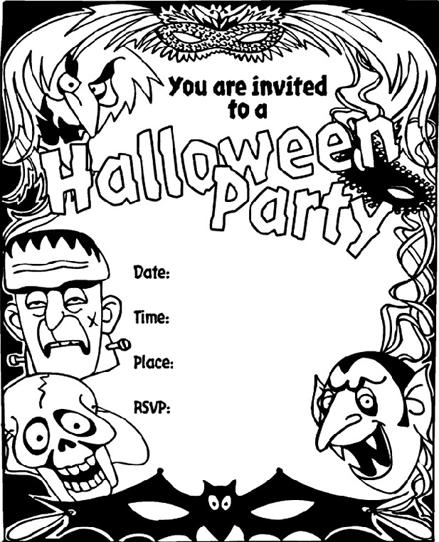 picture regarding Free Printable Halloween Invitations titled Totally free Printable Halloween Invites For Older people