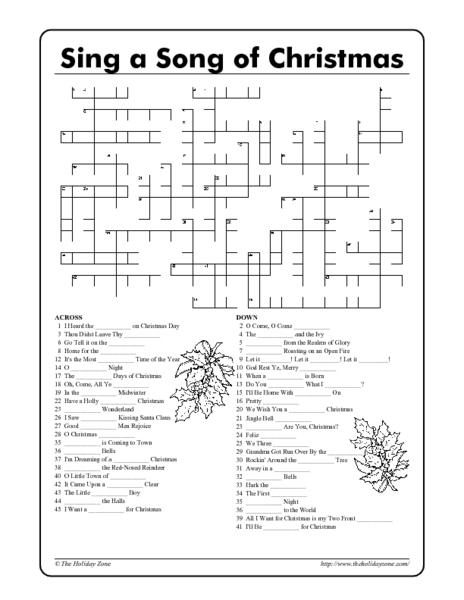 20 Fun Printable Christmas Crossword Puzzles