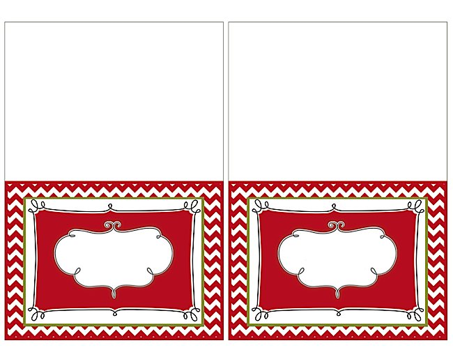 Printable Place Card Border Templates