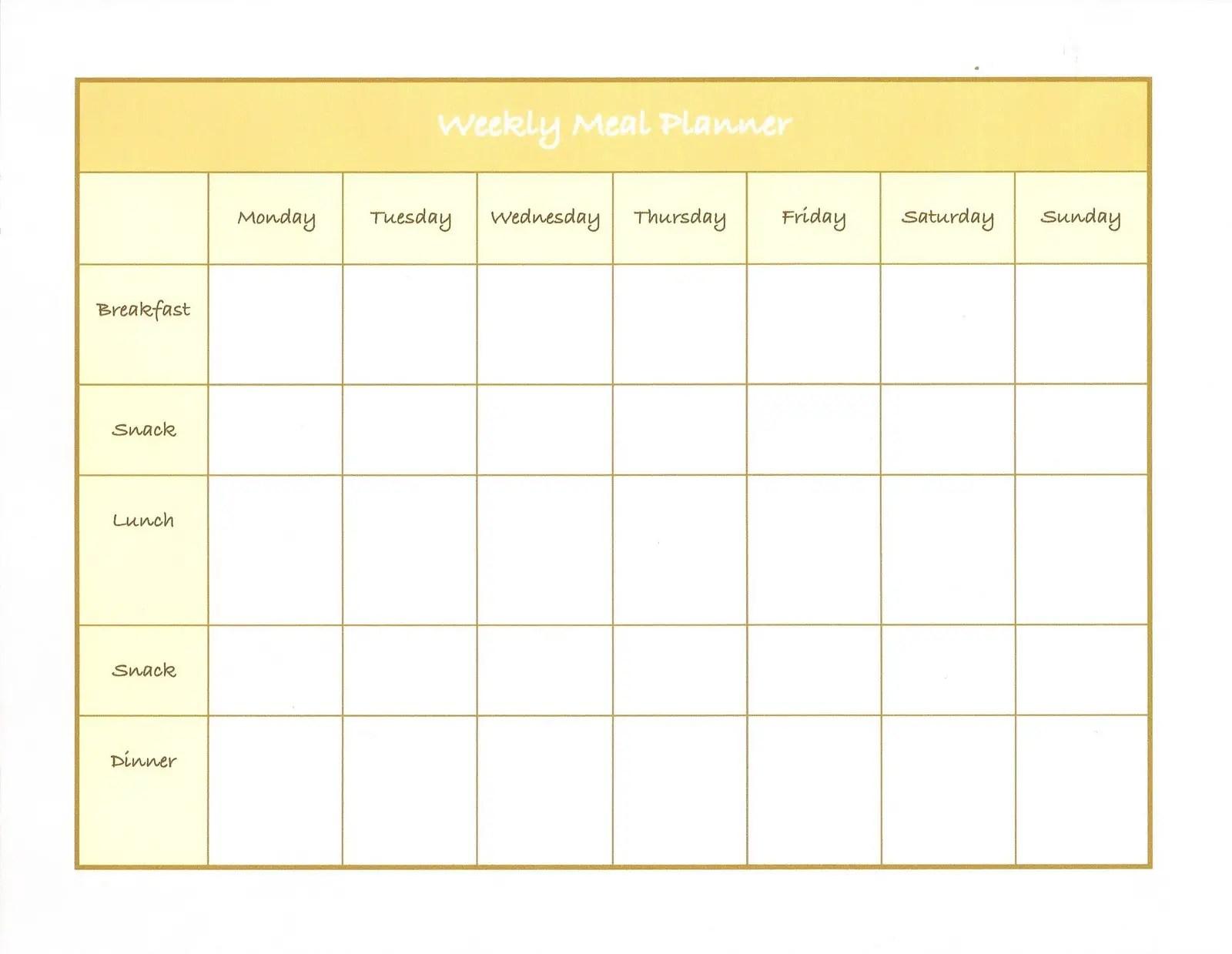 45 Printable Weekly Meal Planner Templates