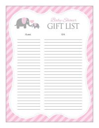 24 Helpful Baby Shower Checklists | Kitty Baby Love