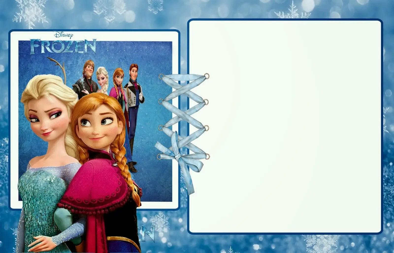 7th birthday frozen invitation card