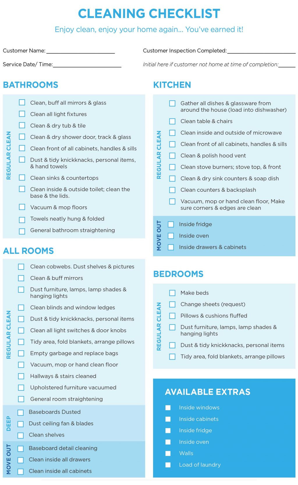 40 Helpful House Cleaning Checklists For You