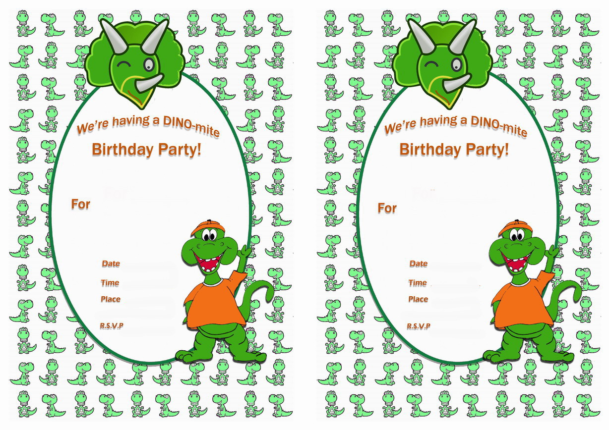 19 Roaring Dinosaur Birthday Invitations KittyBabyLove Com