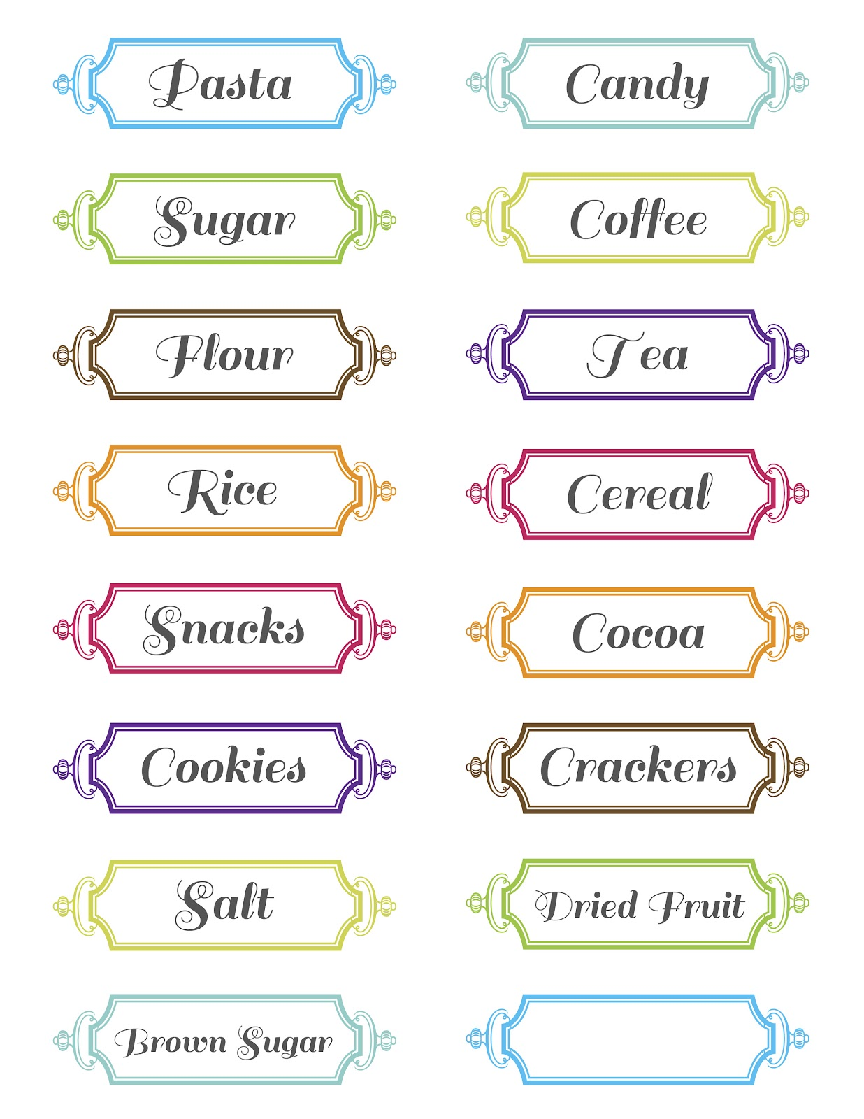 30 Pretty Kitchen Or Pantry Labels