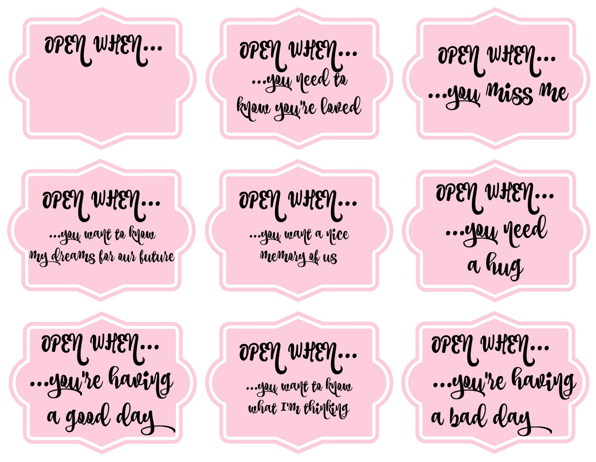 17 Cute Printable Open When Letters Kitty Baby Love