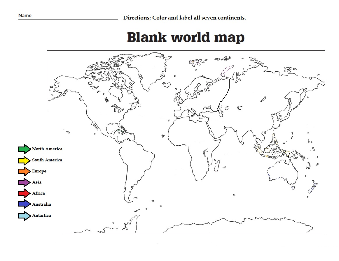 Asia Map Worksheet Printable