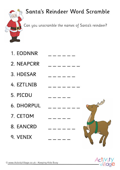 26 Christmas Word Scrambles For You KittyBabyLove