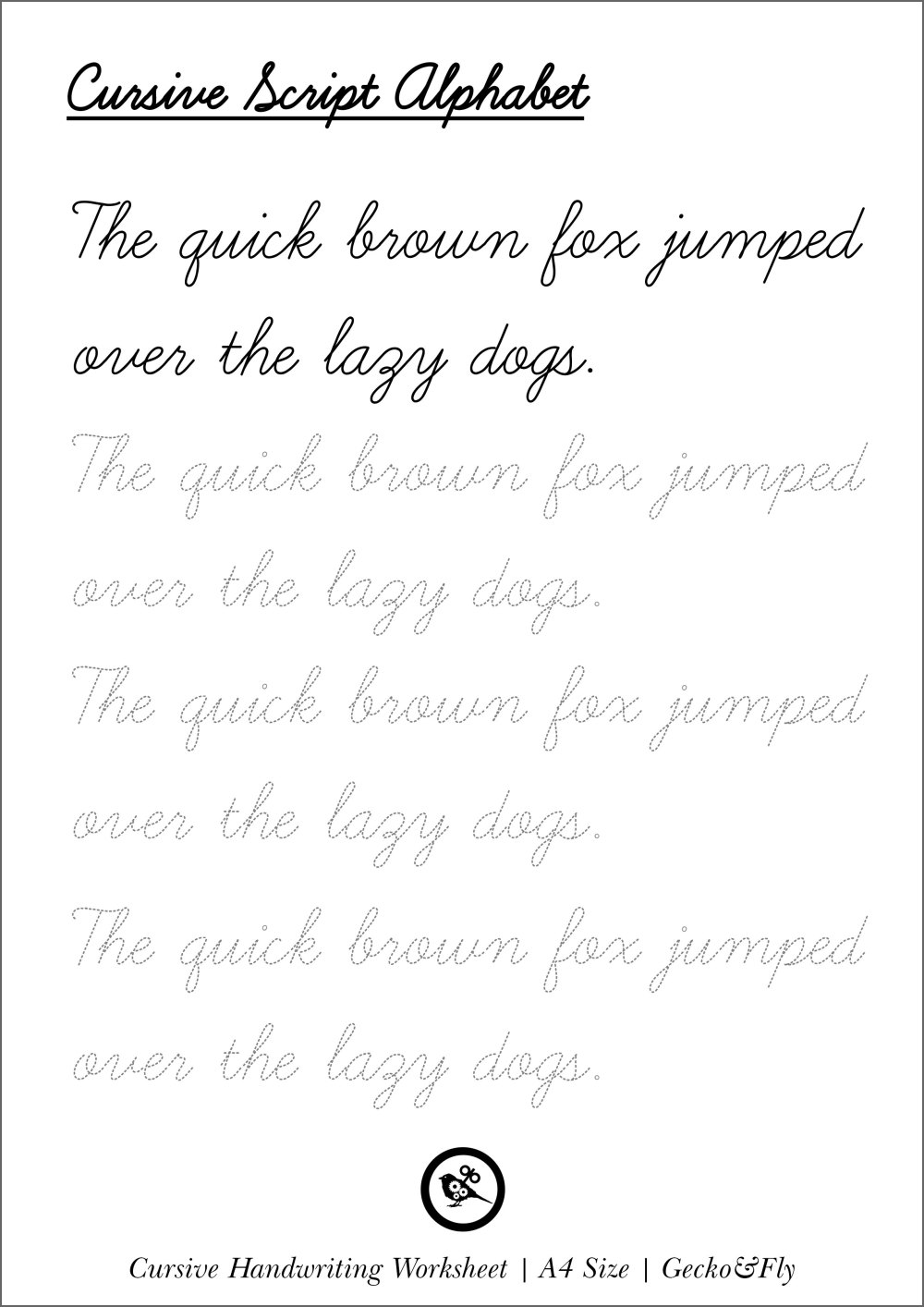 medium resolution of 70 Cursive Worksheets for Handwriting Practice   KittyBabyLove.com