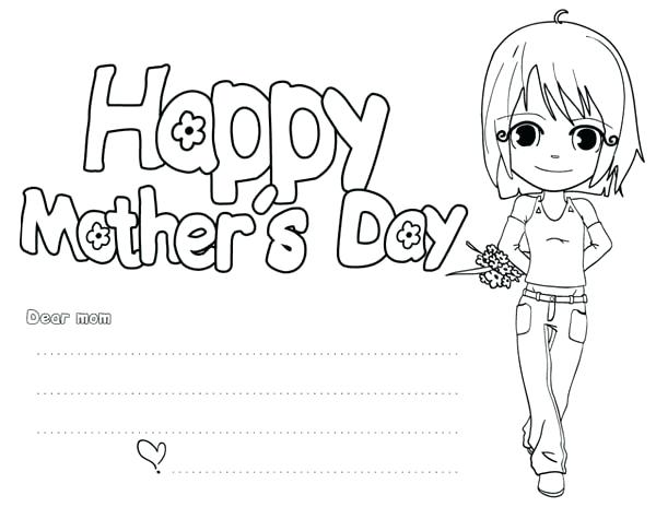 30 Free and Printable Mother's Day Coloring Cards