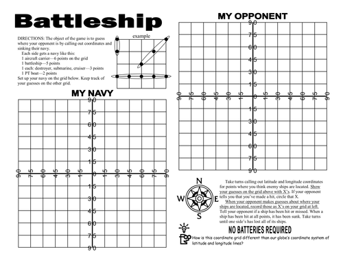 photograph about Battleship Printable referred to as Battleship Math Sport Printable Video games Planet