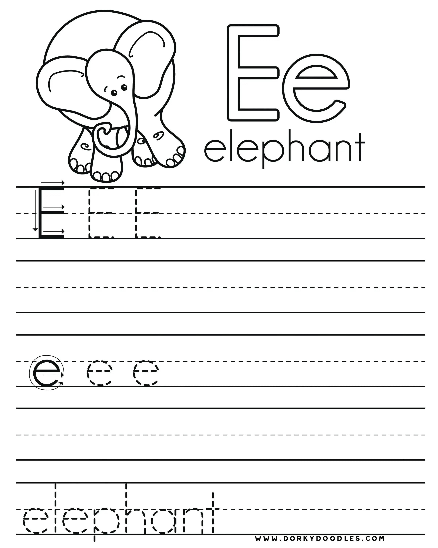 32 Fun Letter E Worksheets