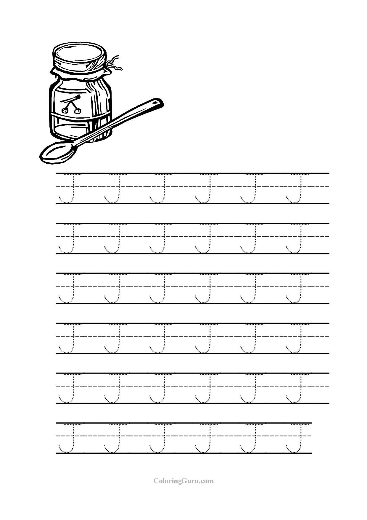 11 Letter J Worksheets For Kids