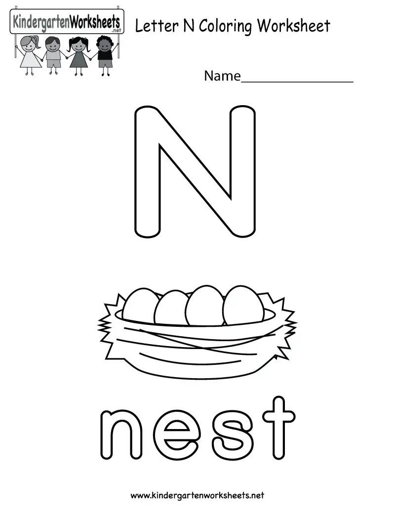 14 Interesting Letter N Worksheets for Kids