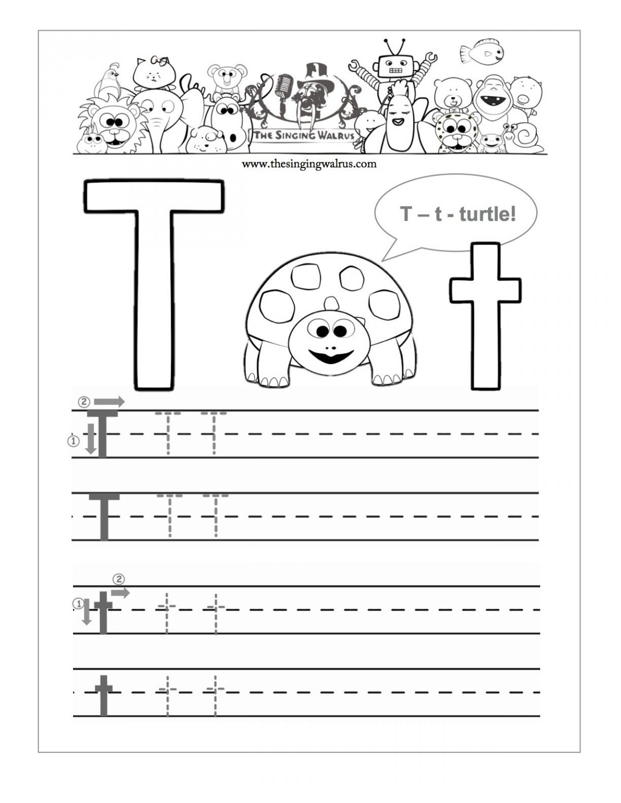 20 Learning The Letter T Worksheets
