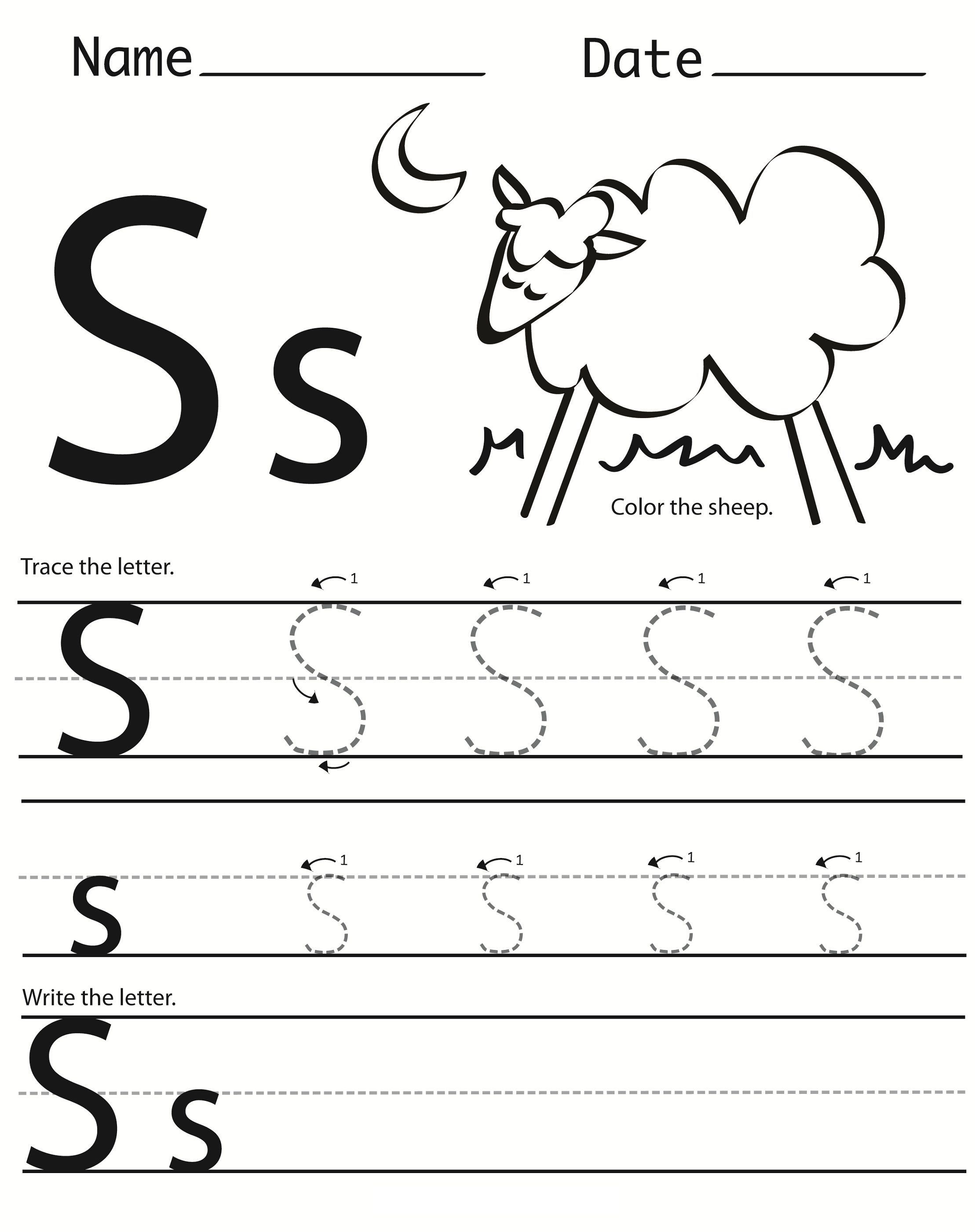 19 Cool Letter S Worksheets
