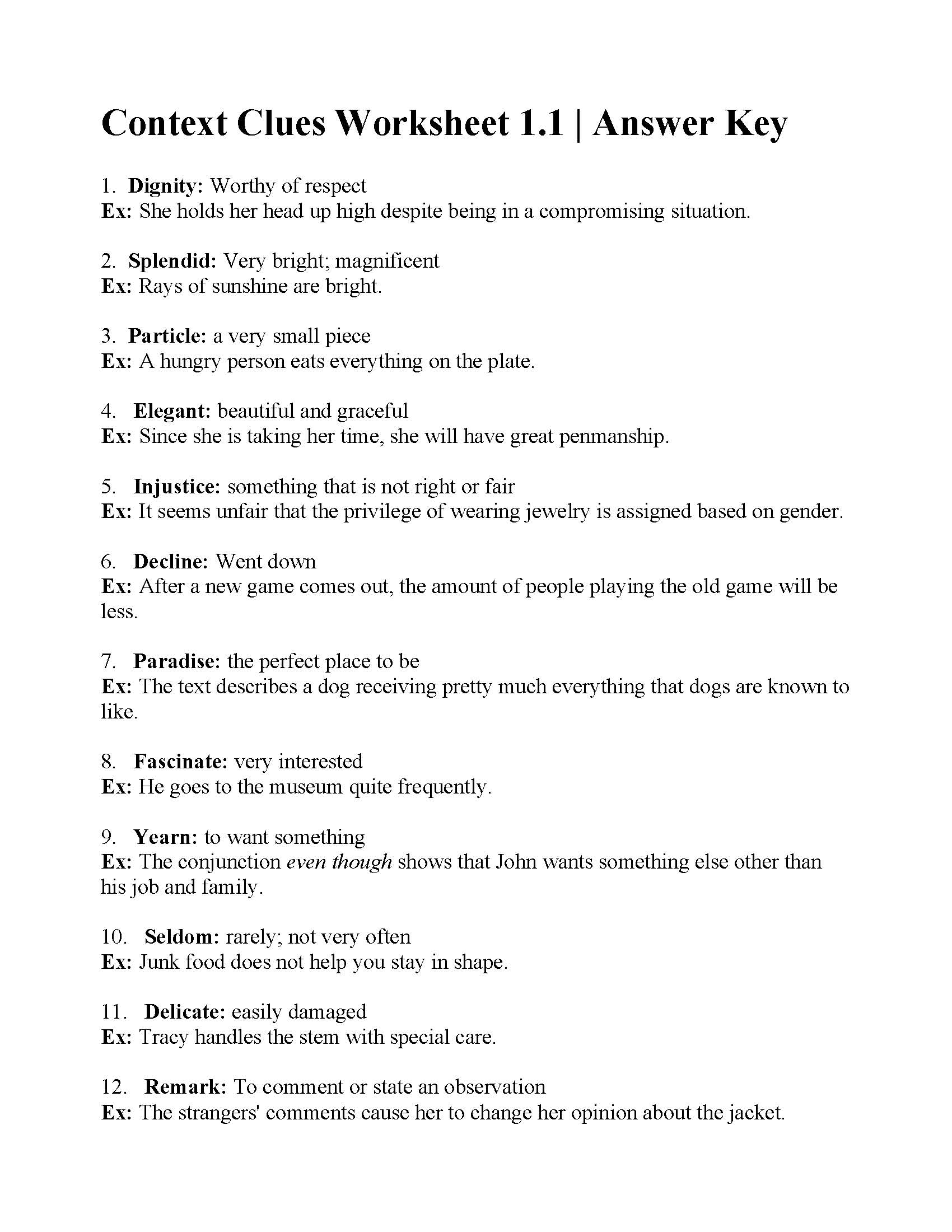 hight resolution of 38 Interesting Context Clues Worksheets   KittyBabyLove.com