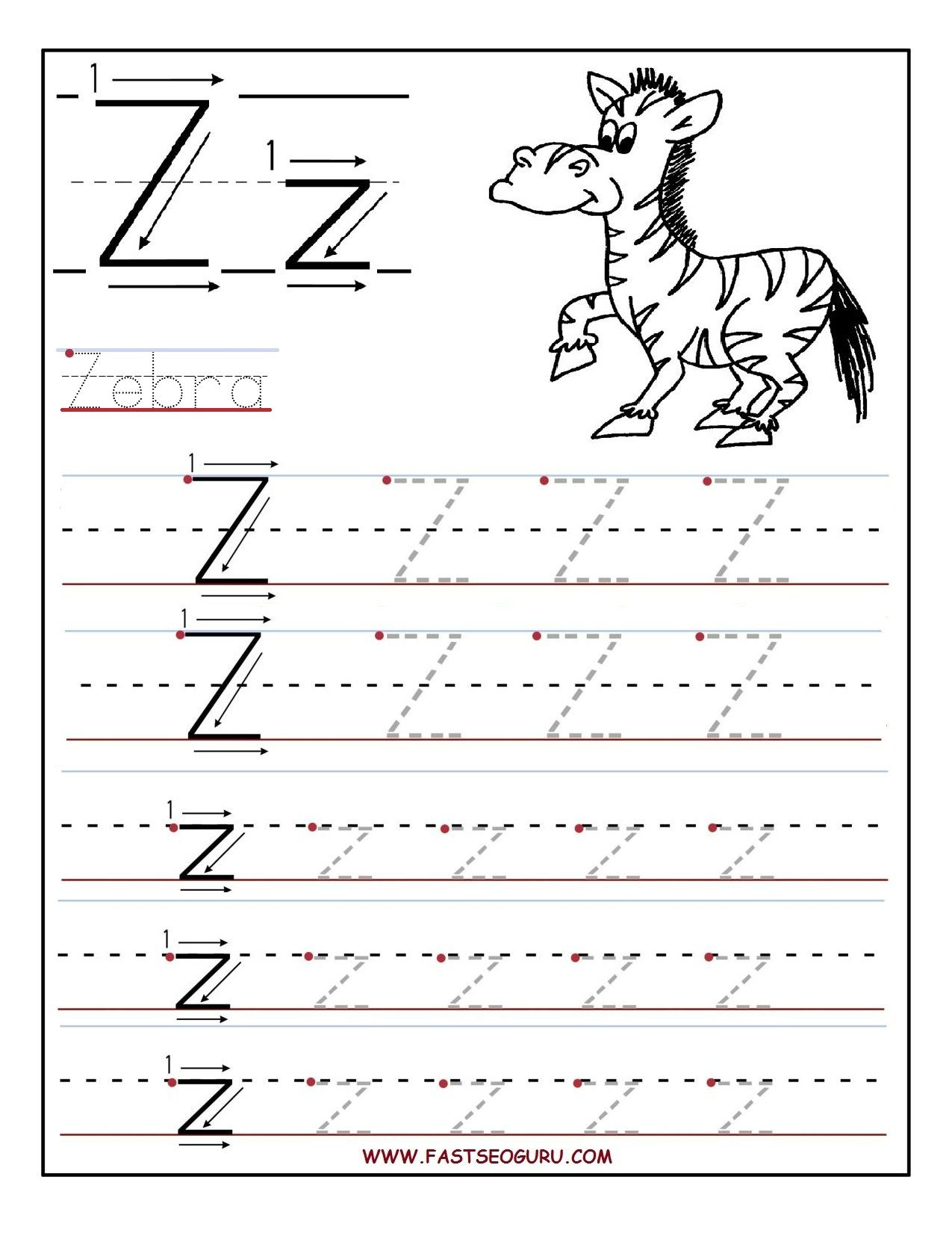 10 Enjoyable Letter Z Worksheets