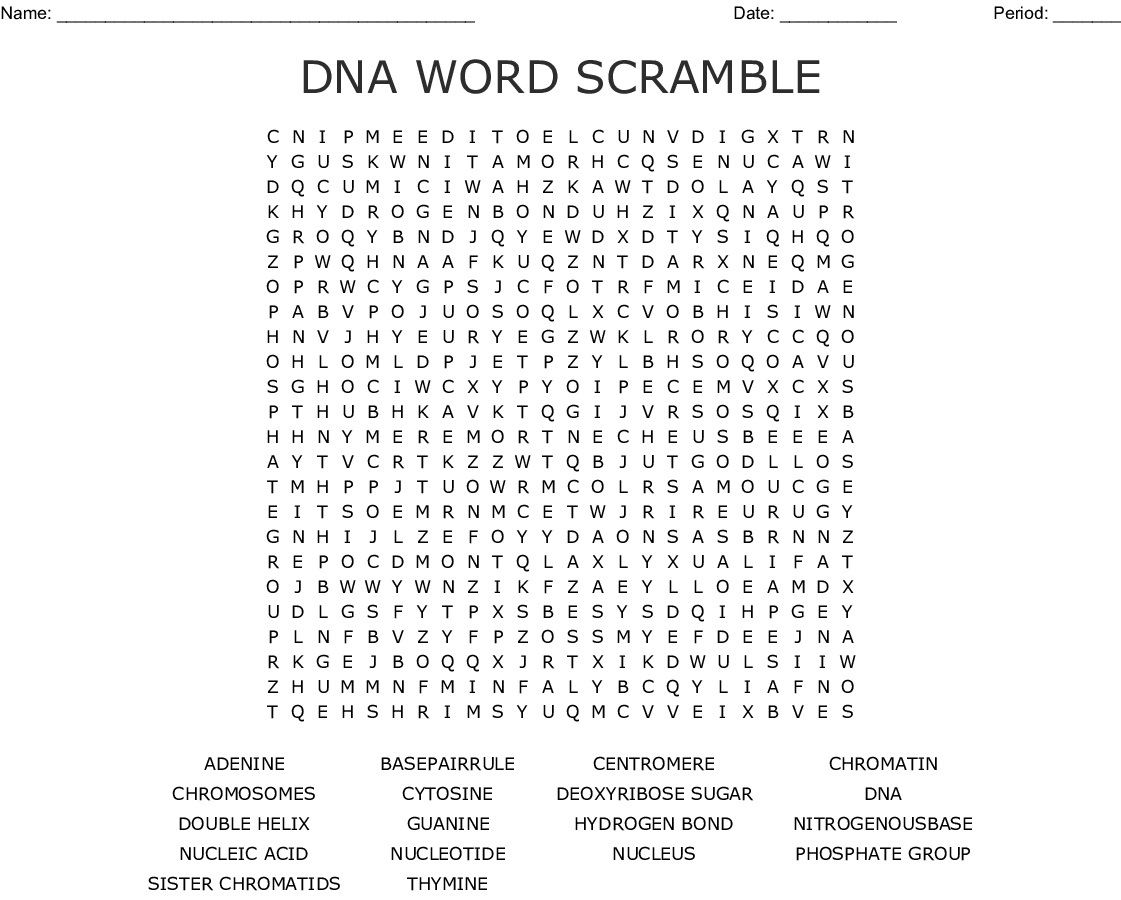 10 Dna Word Searches For You