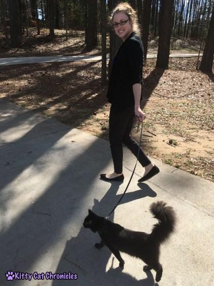 Kylo Walks on the Leash with Me - Impromptu Adventure