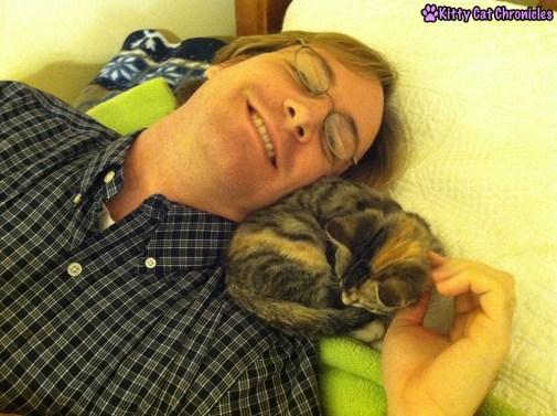 Flashback Friday: Once a Shoulder Kitty, Always a Shoulder Kitty - Delilah Kitten