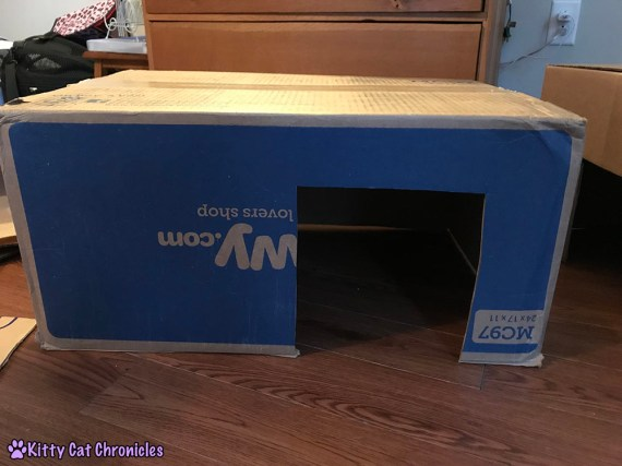 Repurpose Those Cardboard Boxes: Make a DIY Box Fort! - Cutting Entry Holes