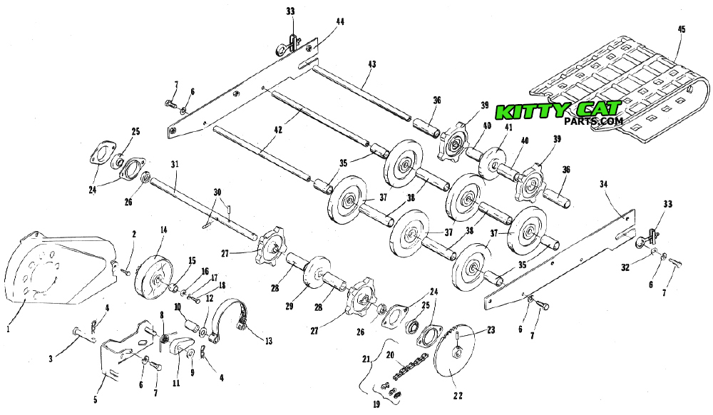 [DIAGRAM] 1987 Arctic Cat Kitty Cat Snowmobile Parts And
