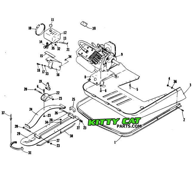 Arctic Cat Kitty Cat Snowmobile Parts