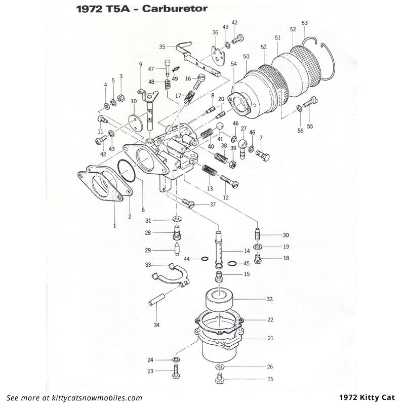 72 Kitty Cat Carburetor Parts