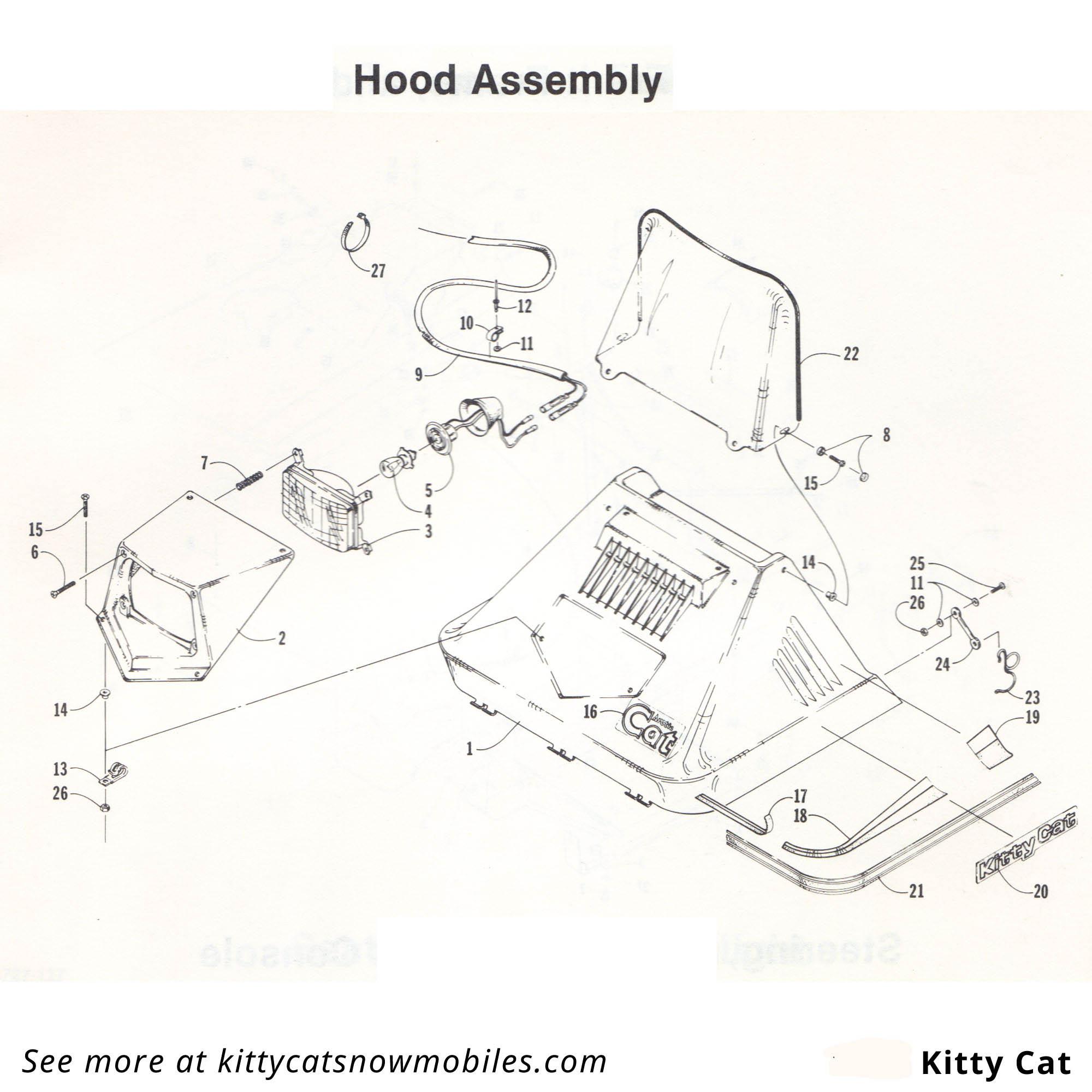 85 Kitty Cat Hood Parts