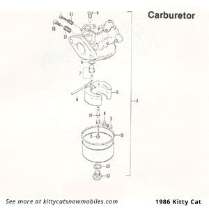 Arctic Cat Kitty Cat Carburetor