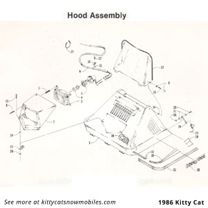 86 Kitty Cat Hood Parts