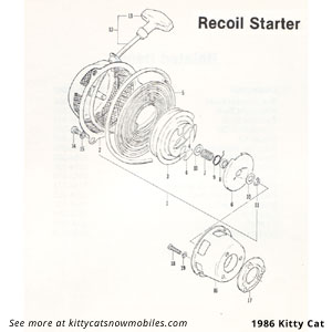 86 Kitty Cat Recoil Starter Parts