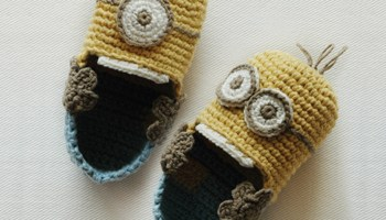 Lulu monster baby booties crochet pattern kittying crochet pattern minion despicable toddler booties pattern ccuart Choice Image