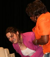 Kitty Martin as Mandy in BLAME for Sphinx Theatre with Doreen Ingleton