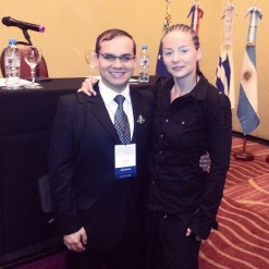 Kitty Sanders with Miguel Fierro Pinto