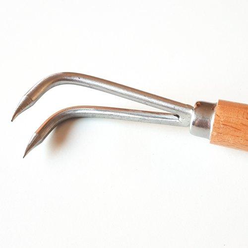 uncino per il distaccamento delle radici nei bonsai in acciaio inox
