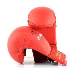 WKF Onaylı Hayashi Karate Eldiveni Kırmızı