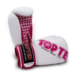 TOP TEN Boks Eldiveni Ultimate Women White/Pink 10 oz 2242-1710