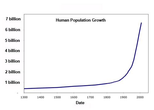 Image result for human population growth graph