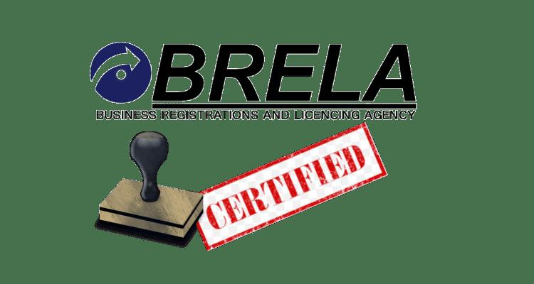 Brela Company Registration Certification