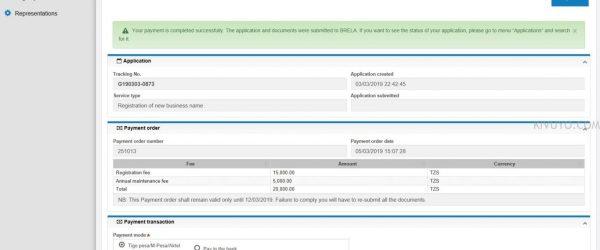 Payment Confirmation Brela