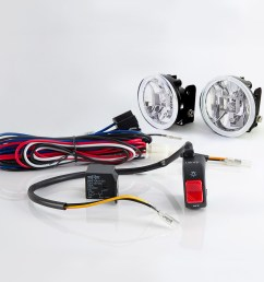 sirius ns 15 fog light lamp with wiring harness and black fog light switch [ 1000 x 1000 Pixel ]