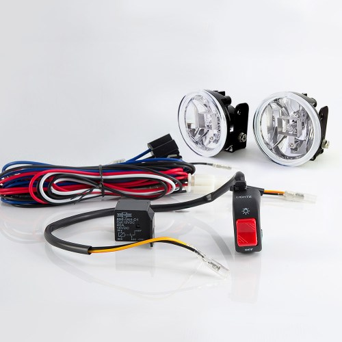 small resolution of sirius ns 15 fog light lamp with wiring harness and black fog light switch