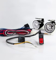 sirius ns 16 fog light lamp with wiring harness and black fog light switch [ 1000 x 1000 Pixel ]