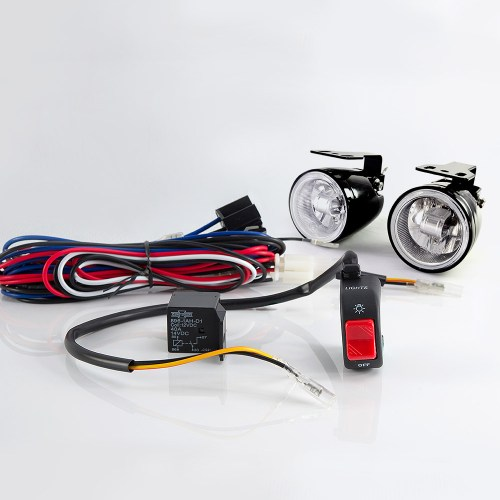 small resolution of sirius ns 16 fog light lamp with wiring harness and black fog light switch