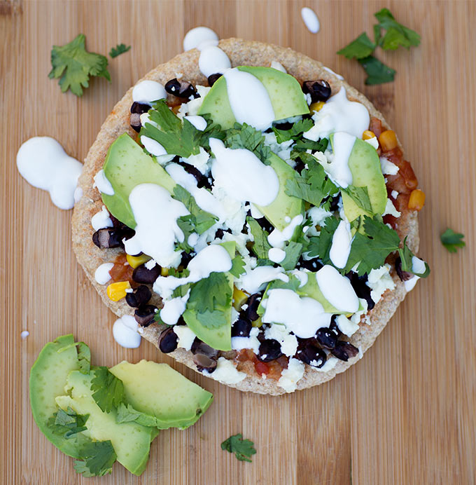 Mexican pita pizza