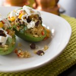Quinoa stuffed avocados-Kiwi and Carrot
